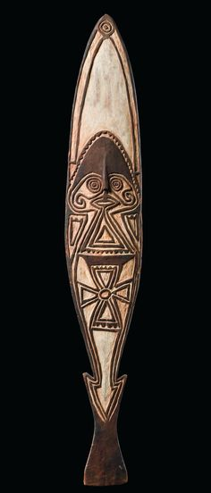 """Ancestral board """"gope"""", Papua New Guinea - Golf, Purari Delta 