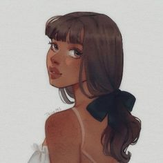 Art Drawings Sketches, Cute Drawings, Pretty Drawings Of Girls, Aesthetic Anime, Aesthetic Art, Pretty Art, Cute Art, Cartoon Kunst, Arte Sketchbook