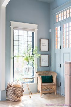 Fall Foyer Decorating Ideas with World Market! Traditional Fall Foyer Decorating Ideas with World Market! Traditional Fall Foyer Decorating Ideas with World Market! Traditional Fall Foyer Decorating Ideas with World Market! Blue Grey Walls, Light Blue Walls, Blue Painted Walls, World Market Furniture, Furniture Sale, Vintage Furniture, Foyer Decorating, Fall Decorating, Decorating Cakes