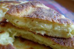 Bounteous bites: Khachapuri - the Georgian cheesebread with Suluguni Read Recipe by kkbelle Georgian Cuisine, Georgian Food, Georgian Recipes, Peach Muffins, Crockpot, Eastern European Recipes, Savory Pastry, Savory Cakes, Greek Cooking