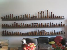 Unbelievable collection of Quistgaard pepper mills - enough said.