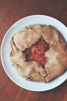 Blood orange buckwheat galette with almondbutter cream