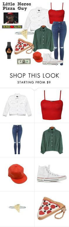 """""""Little Nero's Pizza Guy - Home Alone"""" by ashleigh-kuzio on Polyvore featuring WearAll, Converse, Rock 'N Rose and Betsey Johnson"""