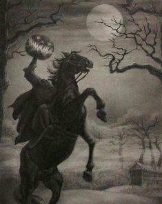 Halloween, Autumn, and all things creepy and macabre. Halloween Tags, Halloween Kunst, Halloween Artwork, Halloween Horror, Fall Halloween, Spooky Halloween Pictures, Vintage Halloween Images, Spooky Scary, Creepy Art