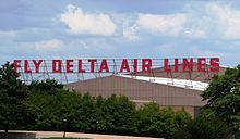 Delta Air Lines - Has called Atlanta (ATL) it's headquarters since 1941.  Check out the old sign - so iconic.