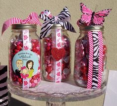 Valentine's Day Goodies in Mason Jars…