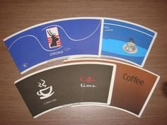 Manufacturer wholesale food grade custom printed disposable coffee cup pe coated paper sheet paper fan die cut cup paper $1300~$1500