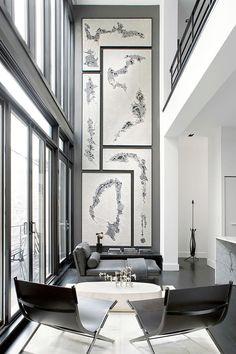 Modern Row House by Lukas Machnik Interior Design #wallartroad #modernframes