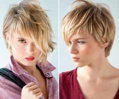 Short hair styling tips 2014 Messy Short Hair, Short Hair Cuts, Short Pixie Haircuts, Pixie Hairstyles, Medium Hair Styles, Short Hair Styles, Concave Bob, Trends, Cut And Style