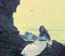Inspiring picture birds, cliff, dress, eugenio recuenco, fairy tale, fantasy