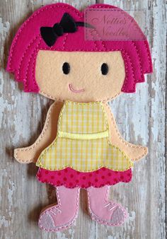 Lalaloopsy Crumbs Sugar Cookie Felt Doll and by NettiesNeedlesToo, $16.00
