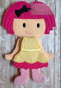Lalaloopsy Crumbs Sugar Cookie Felt Doll and by NettiesNeedlesToo, $16.00