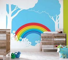 1000 Images About Rainbow Wall On Pinterest Rainbow