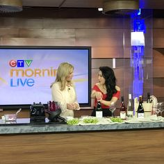 Look!! We're so fun!! 😃😂 Making beet and pistachio dip and talking about @chefmeetsbcgrape this morning on @ctvmorninglive 🍷🍷! Very excited to host and judge Western Canada's largest celebration of BC Wine and Food in Victoria and Vancouver this year! Few tickets left 👉@winebcdotcom  Thank you @anitaleehairmakeup of @helmet_salon for the always amazing hair and make up, AND everything else you help me do on set ❤️