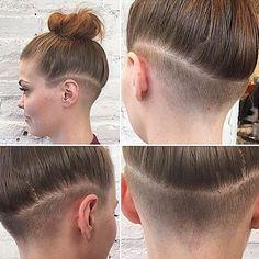Image result for long hair undercut women's
