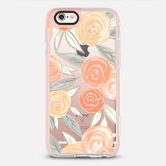 Peach Roses - New Standard Case in Peach Pink by Bianca Pozzi | @casetify