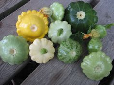 Patty Pan squash....I am planting these tomorrow.  Same colors too!!  :)