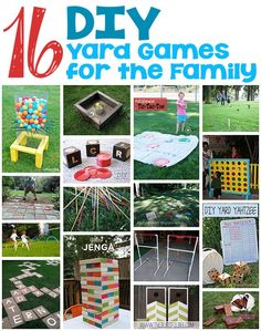 16 DIY Yard Games for the Family – Browse through this collection of amazing yard games that the entire family can play together. - All About Garden Family Yard Games, Diy Yard Games, Yard Games For Kids, Outdoor Activities For Kids, Games For Toddlers, Diy For Kids, Yard Yahtzee, Family Crafts, Outdoor Fun