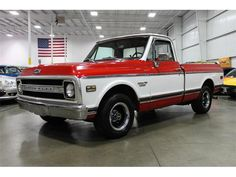 Red, White 1970 Chevrolet C10 WANT! WANT! WANT!