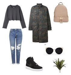 """December: yeezy"" by her-aesthetic on Polyvore featuring Topshop, NIKE, adidas Originals, Una-Home and MICHAEL Michael Kors"