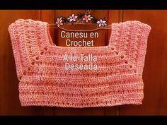 Crochet bodice for a toddler dress tutorial Crochet Yoke, Crochet Motifs, Crochet Girls, Crochet Baby Clothes, Crochet Blouse, Crochet For Kids, Crochet Stitches, Crochet Poncho, Crochet Baby Dresses
