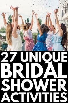 27 Bridal Shower Games and Activities that Don't Suck 27 Bridal Shower Activities that Aren't Lame Bridal Shower Activities, Fun Bridal Shower Games, Simple Bridal Shower, Bridal Shower Rustic, Bridal Shower Gifts, Bridal Shower Invitations, Bridal Gifts, Bridal Shower Bride Outfit, Bride Shower