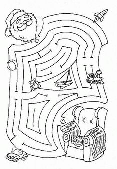 help santa find his chair maze