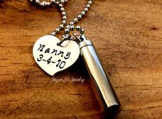 Personalized Cremation Urn Pendant-Stainless Steel Urn Necklace-Memorial Necklace-Remembrance Necklace-Cremation-Sympathy-Urn for Ashes