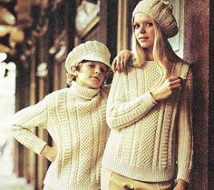 vintage aran sweater knitting pattern