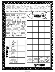 Great for St Patrick's Day - Print and Go Math Worksheets for Kindergarten. ($)
