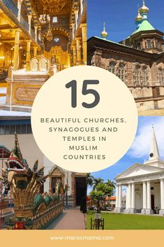 Beautiful Churches, Synagogues and Temples in Muslim Countries - MarocMama Worlds Of Fun, Around The Worlds, Jewish Synagogue, Penang Island, Ephesus, Morocco Travel, Buddhist Temple, Christian Church, Mosques