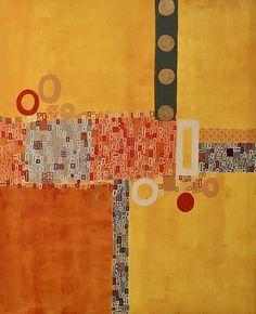 "Saatchi Art Artist Rashna Hackett; Painting, ""Reignite"" #art"
