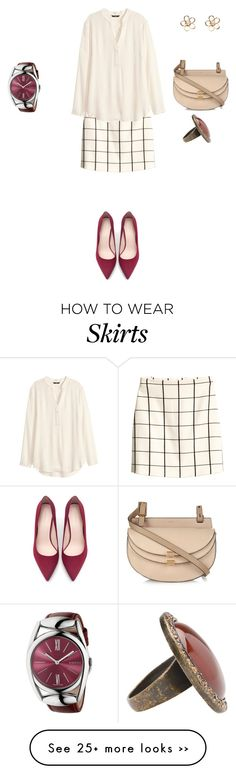"""""""Untitled #423"""" by elenekhurtsilava on Polyvore featuring H&M, Zara, Chloé and Gucci"""