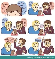 Tony is the mama I don't ship cap and tony but it was hilarious 😂