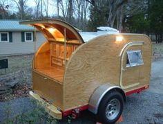 Diy Teardrop Camping Trailer home decoration photo Diy Camper Trailer Designs, Tiny Camper Trailer, Teardrop Trailer Plans, Building A Teardrop Trailer, Camping Trailer Diy, Mini Camper, Camping Gear, Airstream Trailers, Camping Hacks