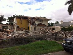 This image shows the demolition process.