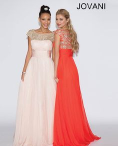 Chiffon embellished gown 78022 - Prom Dresses