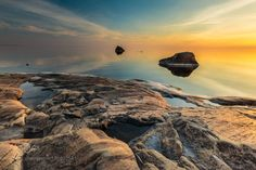 Calm Vexala by jariehrstrom  Nature Rocks Landscapes Sunset Seascapes Stones Lee filters Calm Vexala jariehrstrom