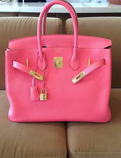 My very first Birkin reveal!! - PurseForum Not mine, sadly. But a TPFers GORGEOUS pink lipstick Birkin with gold hardware.