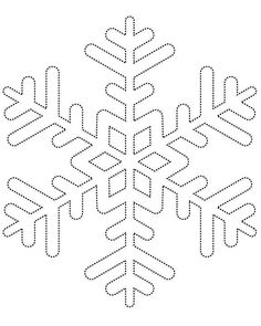 Snowflake template 1 - Free Printable Coloring Pages by aubree_hays String Art Templates, String Art Patterns, Snowflake Template, Snowflake Pattern, Snowflake Stencil, Snowflake Pillow, Snowflake Printables, Feather Template, Christmas Crafts