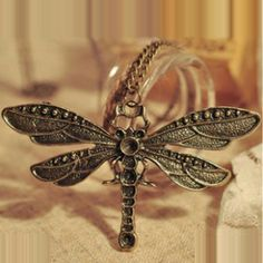 Dragonfly Vintage Necklace