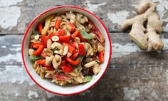Healthy Asian Sesame PastaSalad Recipe - Relish   http://relish.com/recipes/healthy-asian-sesame-pasta-salad/