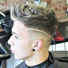 Exceptional Low Taper Fade With Messy Spiky Hair