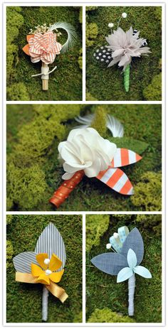 Fab in Fabric: Beautiful Boutonnieres from Peppermint Cloud