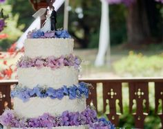hydrangea wedding cake. not much for the colors, but i love it, very pretty!