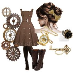 """""""Steampunk Lolita #2"""" by theeverydaygoth on Polyvore"""