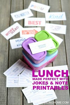 Lunch made perfect with jokes and note printables and Rubbermaid LunchBlox!