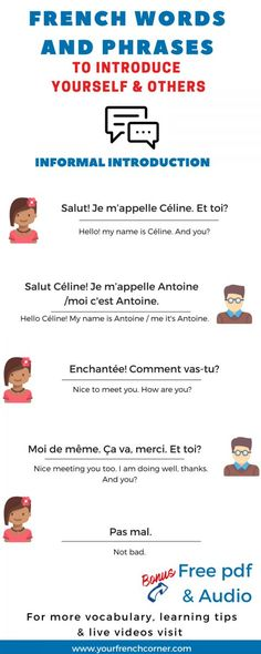 How to Introduce Yourself And Others In French: A Practical Guide #learnfrench #fle #frenchimmersion >>Repin for later