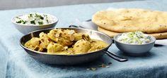 Kyckling korma Korma, Garam Masala, Naan, Santa Maria, Potato Salad, Cauliflower, Curry, Potatoes, Vegetables