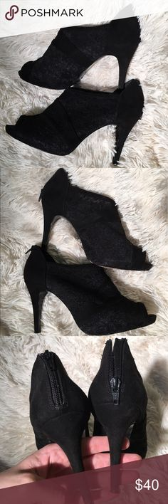 """M by Marinelli Whirl Bootie Sexy and chic. Peep toe. Zips in the back. 3.5"""" heel. Wore to a Christmas party once. M by Marinelli Shoes Ankle Boots & Booties"""